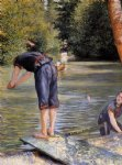 bathers by gustave caillebotte painting