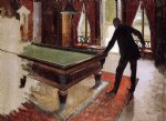 gustave caillebotte art - billiards unfinished by gustave caillebotte