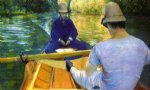 gustave caillebotte art - boaters on the yerres by gustave caillebotte