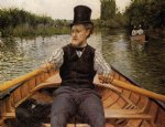 gustave caillebotte boating party painting