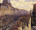 gustave caillebotte art - boulevard des italiens by gustave caillebotte