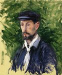 gustave caillebotte bust portrait of eugene lamy painting-32879