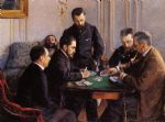 gustave caillebotte acrylic paintings - game of bezique by gustave caillebotte