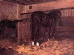 gustave caillebotte horses in the stable painting 32900