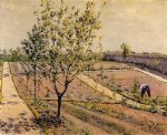 pet art - kitchen garden petit gennevilliers by gustave caillebotte