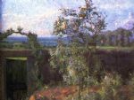 gustave caillebotte acrylic paintings - landscape near yerres by gustave caillebotte