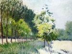 gustave caillebotte lane bordered by trees painting 80212