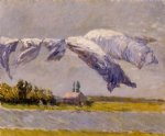 pet art - laundry drying petit gennevilliers by gustave caillebotte
