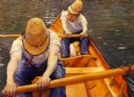 gustave caillebotte acrylic paintings - oarsmen by gustave caillebotte