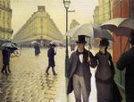 paris famous paintings - paris street rainy weather by gustave caillebotte