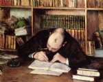 gustave caillebotte portrait of a man writing in his study painting-32932