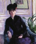 gustave caillebotte portrait of a young woman in an interior painting-32935
