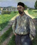 gustave caillebotte portrait of eugene lamy painting-32937