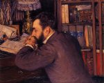 gustave caillebotte portrait of henri cordier painting-32938