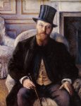 gustave caillebotte portrait of jules dubois painting-32940