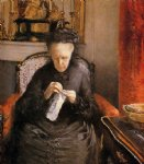 gustave caillebotte portrait of madame martial caillebote the artist s mother painting-32943