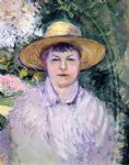gustave caillebotte watercolor paintings - portrait of madame renoir by gustave caillebotte
