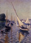 gustave caillebotte watercolor paintings - regatta at argenteuil by gustave caillebotte