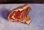 gustave caillebotte watercolor paintings - rib of beef by gustave caillebotte