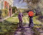 gustave caillebotte acrylic paintings - rising road by gustave caillebotte