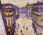 gustave caillebotte watercolor paintings - rue halevy seen from the sixth floor by gustave caillebotte