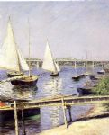 sailboat acrylic paintings - sailboats in argenteuil by gustave caillebotte