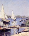 sailboat art - sailboats in argenteuil by gustave caillebotte