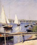 gustave caillebotte sailing boats at argenteuil painting