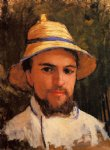 gustave caillebotte self portrait fragment painting-32959