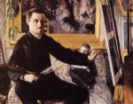 gustave caillebotte self portrait with easel painting-32962