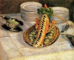 gustave caillebotte still life with crayfish painting 32965