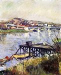 gustave caillebotte acrylic paintings - the argenteuil bridge by gustave caillebotte