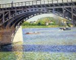 gustave caillebotte acrylic paintings - the argenteuil bridge and the seine by gustave caillebotte
