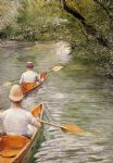 gustave caillebotte acrylic paintings - the canoes by gustave caillebotte