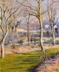 pet art - the garden at petit gennevilliers in winter by gustave caillebotte