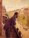 gustave caillebotte acrylic paintings - the man on the balcony by gustave caillebotte