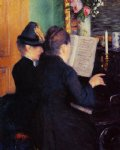 gustave caillebotte the piano lesson paintings