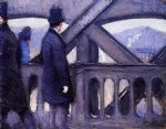 gustave caillebotte watercolor paintings - the pont de europe study by gustave caillebotte