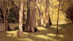 light watercolor paintings - the yerres effect of light by gustave caillebotte