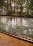 the yerres rain by gustave caillebotte painting