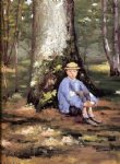 tree original paintings - yerres camille daurelle under an oak tree by gustave caillebotte