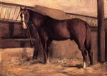 gustave caillebotte yerres reddish bay horse in the stable painting 33024