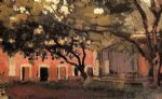 farm original paintings - yerres the aviary in the ornamental farm by gustave caillebotte
