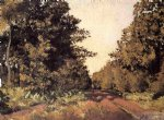 gustave caillebotte yerres woods at la grange path of the great ha painting