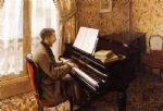 gustave caillebotte young man playing the piano art