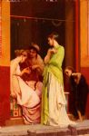 gustave clarence rodolphe boulanger original paintings - une marchande de bijoux a pompeii by gustave clarence rodolphe boulanger