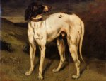 gustave courbet a dog from ornans painting