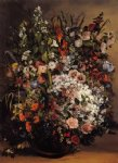 gustave courbet art - bouquet of flowers by gustave courbet