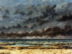 gustave courbet art - calm seas by gustave courbet