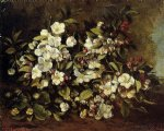 gustave courbet flowering apple tree branch painting 32751